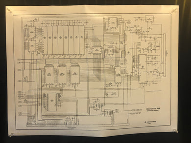 Commodore 64 Schematic Diagram Poster