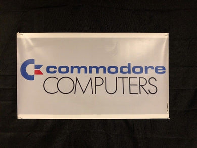 "Commodore Computers 20""x35.5"" Banner Dealer Sign Replica 64 128 Amiga"