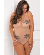 Load image into Gallery viewer, Floral Nude Bodysuit
