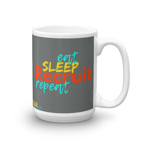 Eat. Sleep. Recruit. Repeat. Mug - Headhunter Gear