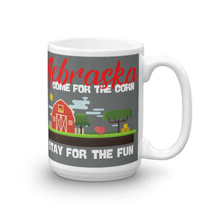 Come for the Corn Nebraska  Mug - Headhunter Gear