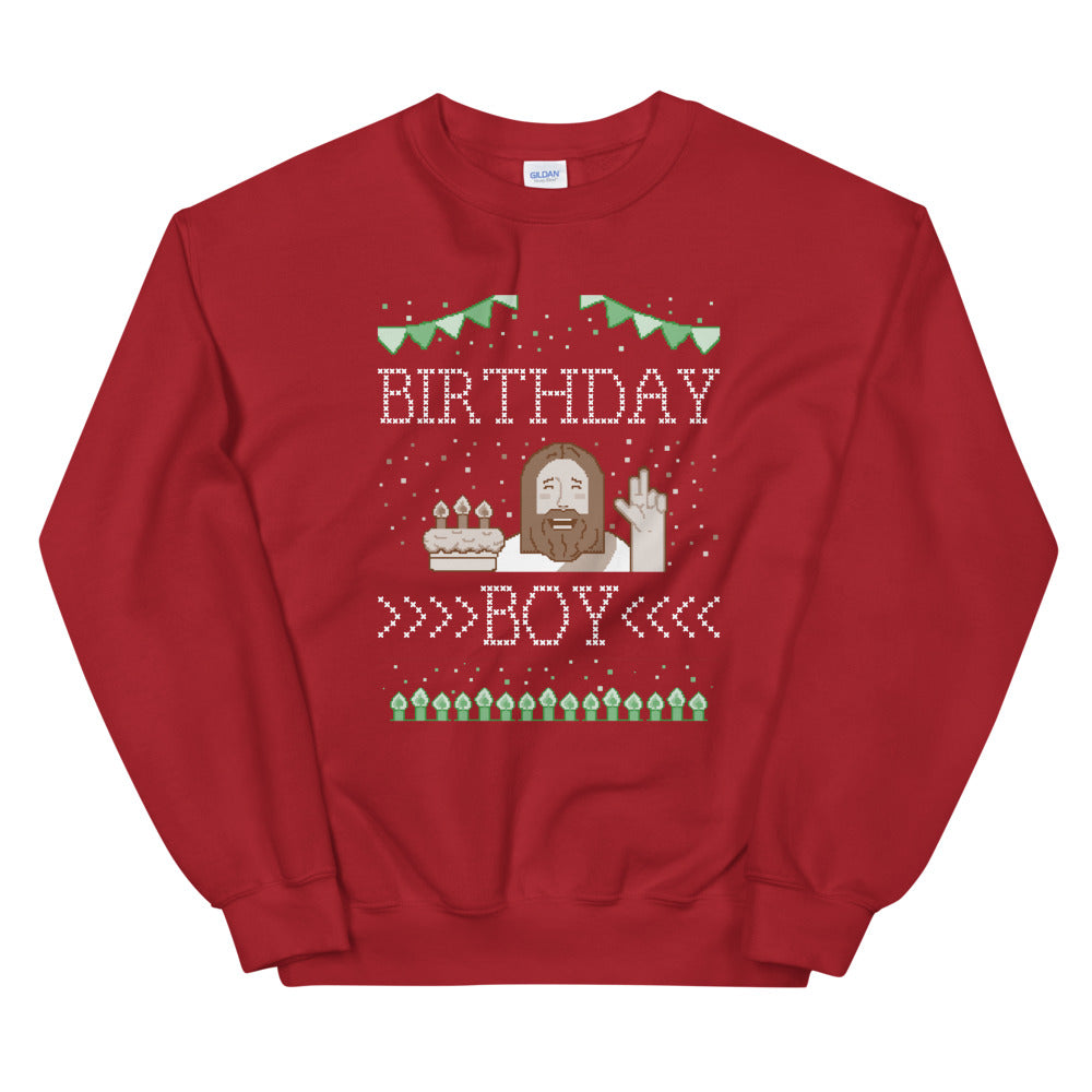 Birthday Boy Ugly Christmas Sweatshirt - Headhunter Gear
