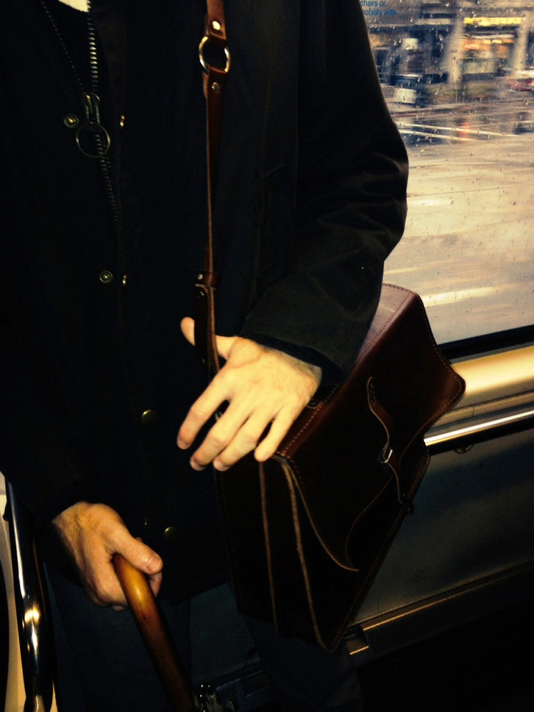 Seen (& heard) in Boston: Leather satchels for a stylish commute
