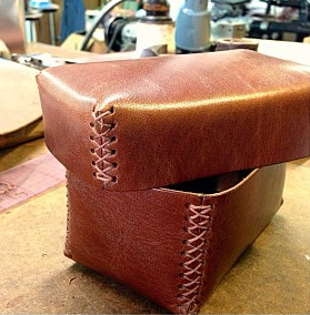 Leather boxes for simple wrapping with style