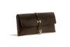 No. 124 Large Leather Clutch, Black