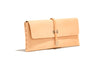 No. 124 Large Leather Clutch, Natural