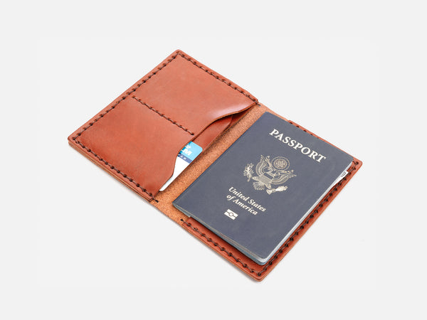 No. 153 Passport Wallet, Tan