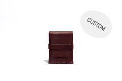 No. 155 Custom Card Case With Flap, Brown