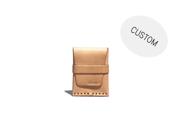 No. 155 Custom Card Case With Flap, Natural