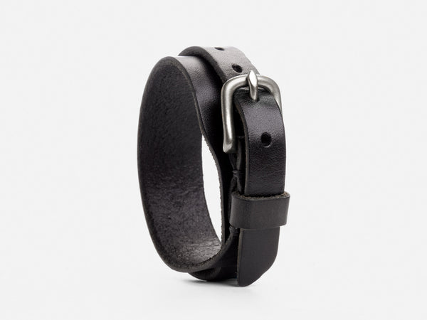 No. 205 Double Wrap Cuff, Black