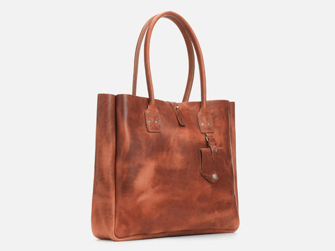 No. 235 Leather Tote, Inward Seam
