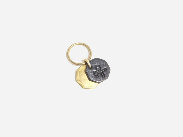No. 403 Octagon Key Tag With Brass Octagon, Black