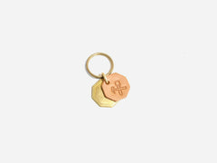No. 403 Octagon Key Tag With Brass Octagon, Natural