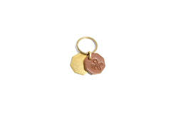 No. 403 Octagon Key Tag With Brass Octagon, Tan