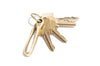 No. 423 Fish Hook Key Holder, Brass