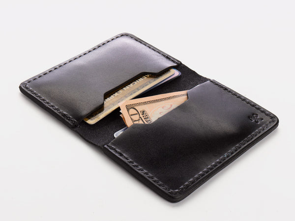 No. 427 Bi-Fold Card Case, Black
