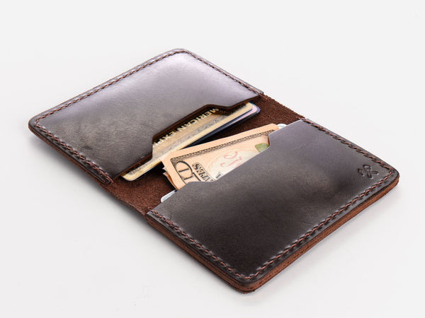 No. 427 Bi-Fold Card Case, Brown