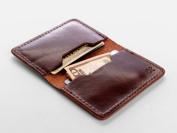 No. 427 Bi-Fold Card Case, Tan