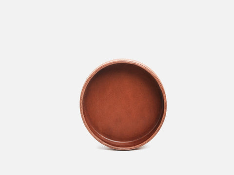 No. 434 Nut Brown Round Valet Tray