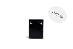 No. 092 Custom Card Case with Snaps, Black
