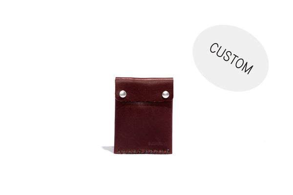 No. 092 Custom Card Case with Snaps, Brown