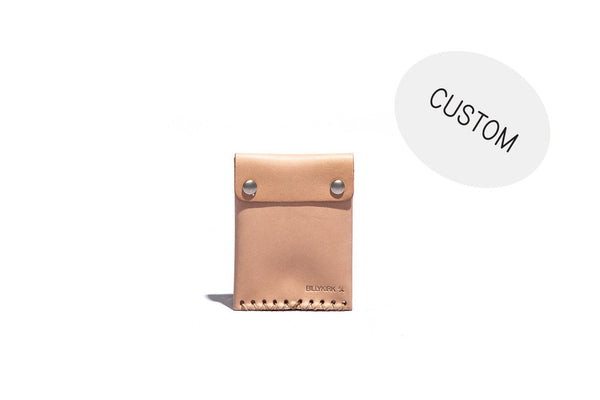 No. 092 Custom Card Case with Snaps, Natural
