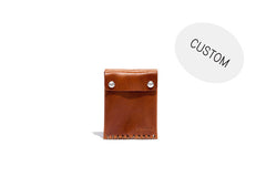 No. 092 Custom Card Case with Snaps, Tan