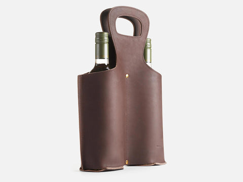 No. 566 Double Leather Wine Tote