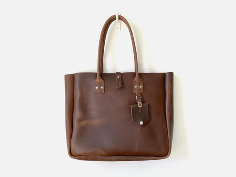 No. 235-SB Small Batch Inward Seam Leather Tote