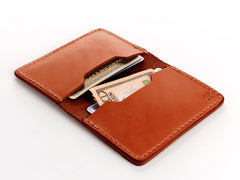 No. 427 Bi-Fold Card Case, Chestnut