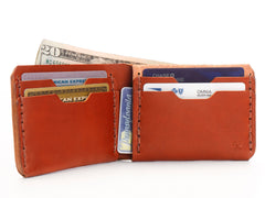 No. 398 Bi-Fold Wallet, Chestnut