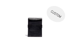 No. 155 Custom Card Case With Flap, Black