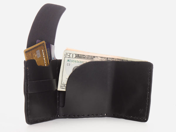 No. 154 Tri-fold Wallet, Black