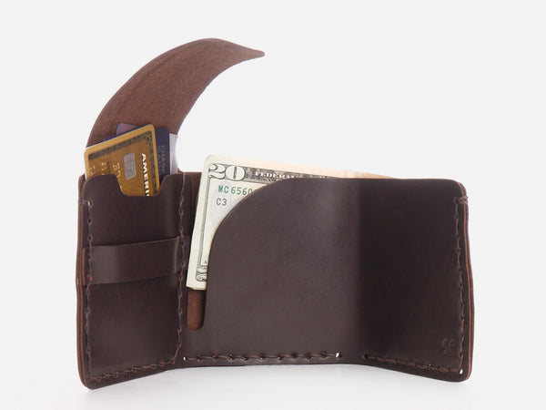 No. 154 Tri-fold Wallet, Brown