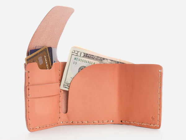 No. 154 Tri-fold Wallet, Natural
