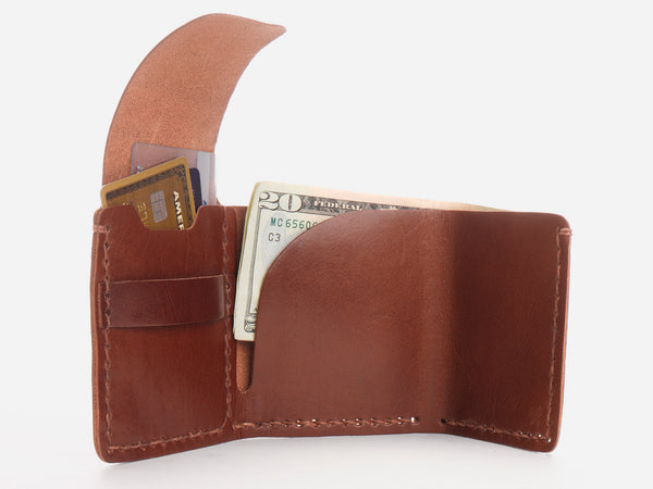 No. 154 Tri-fold Wallet, Tan
