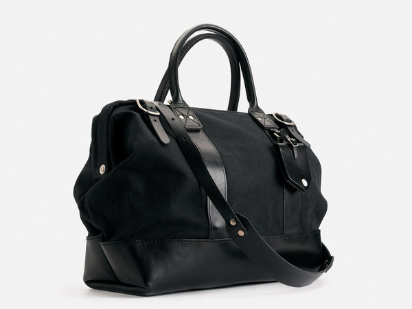 No. 165 Small Carryall, Black Waxed