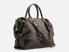 No. 165 Small Carryall, Olive Waxed