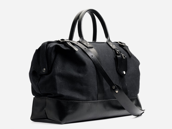 No. 166 Medium Carryall, Black Waxed