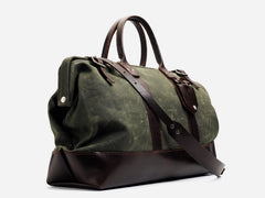 No. 166 Medium Carryall, Olive Waxed