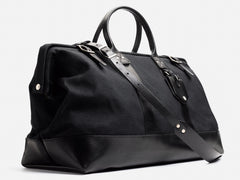 No. 167 Large Carryall, Black Waxed