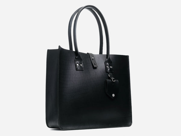 No. 235 Leather Tote, Black