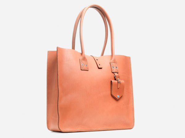 No. 235 Leather Tote, Natural