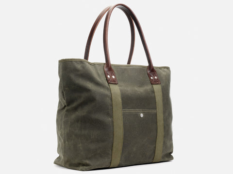 No. 296 Large Waxed Canvas Tote