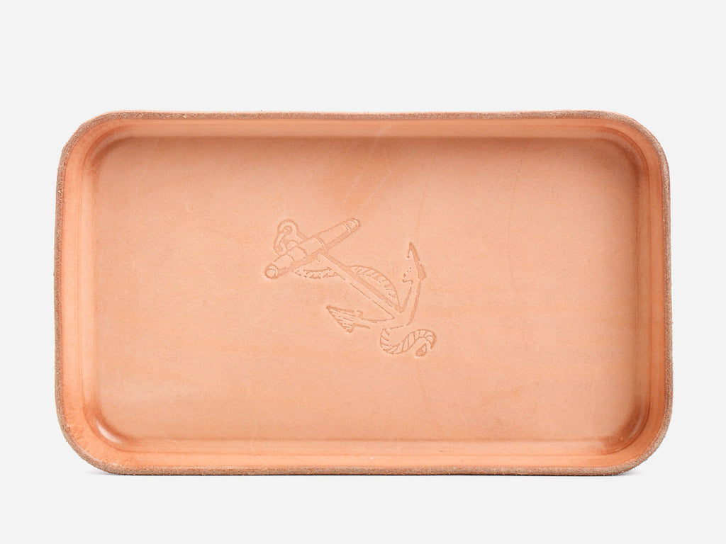 No. 309 Leather Valet Tray, Anchor