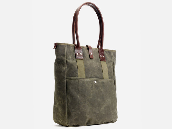 No. 326 Commuter Tote, Olive Waxed