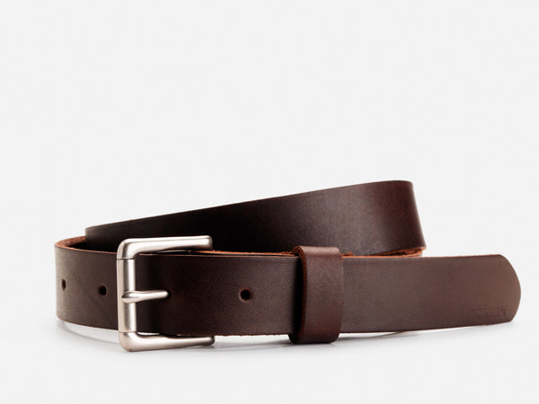 "No. 384 1"" Roller Bar Belt, Brown"