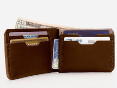 No. 398 Bi-Fold Wallet, Brown