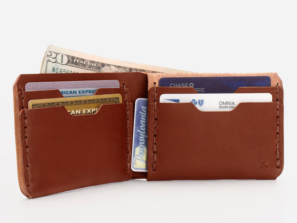 No. 398 Bi-Fold Wallet, Tan