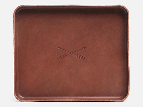 No. 471 Large Nut Brown Valet Tray